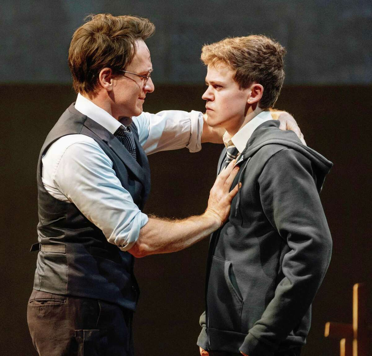 """Jamie Parker and Sam Clemmett, in """"Harry Potter and the Cursed Child"""" at New York's Lyric Theatre. Harry Potter and the Cursed Child"""" will make its West Coast premiere at the Curran theater in San Francisco in fall 2019, it was announced Thursday."""