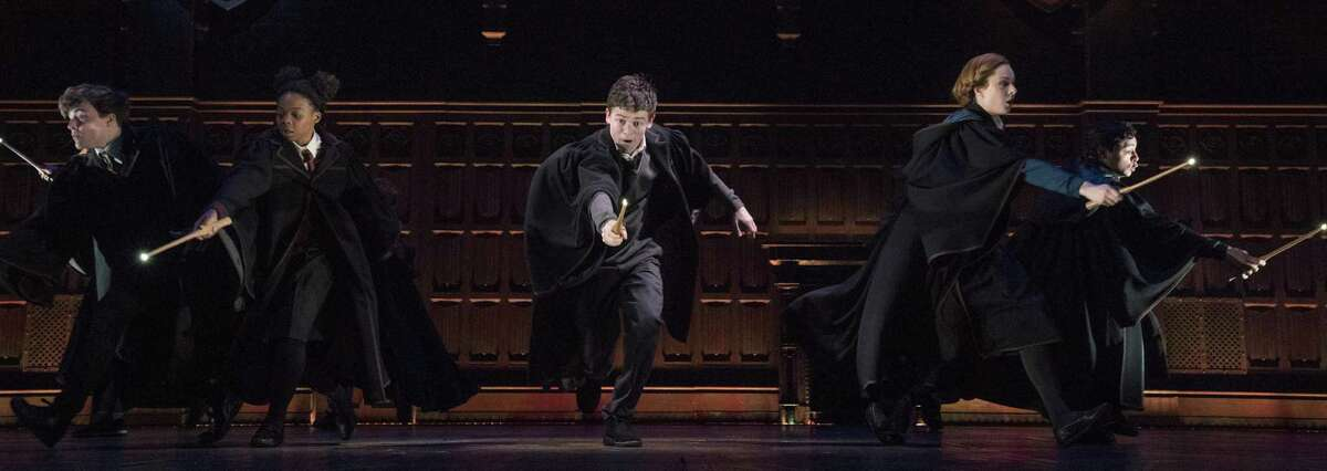 """Sam Clemmett (center) plays Albus, son of Harry Potter, in the two-part production on Broadway. Harry Potter and the Cursed Child"""" will make its West Coast premiere at the Curran theater in San Francisco in fall 2019, it was announced Thursday."""