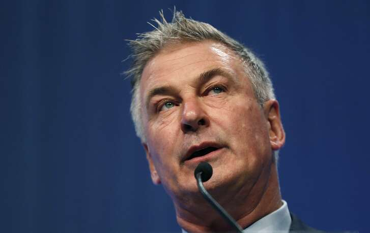 FILE - In this Nov. 27, 2017, file photo, Actor Alec Baldwin speaks during the Iowa Democratic Party's Fall Gala in Des Moines, Iowa. Baldwin is calling for citizens to support and for Congress to protect special counsel's Robert Mueller probe into the 2016 election. (AP Photo/Charlie Neibergall, File)