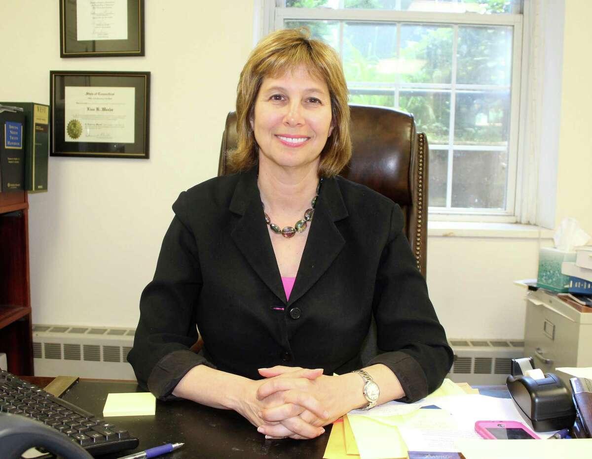Lisa Wexler, probate judge for the Westport-Weston District, at her desk in Westport.