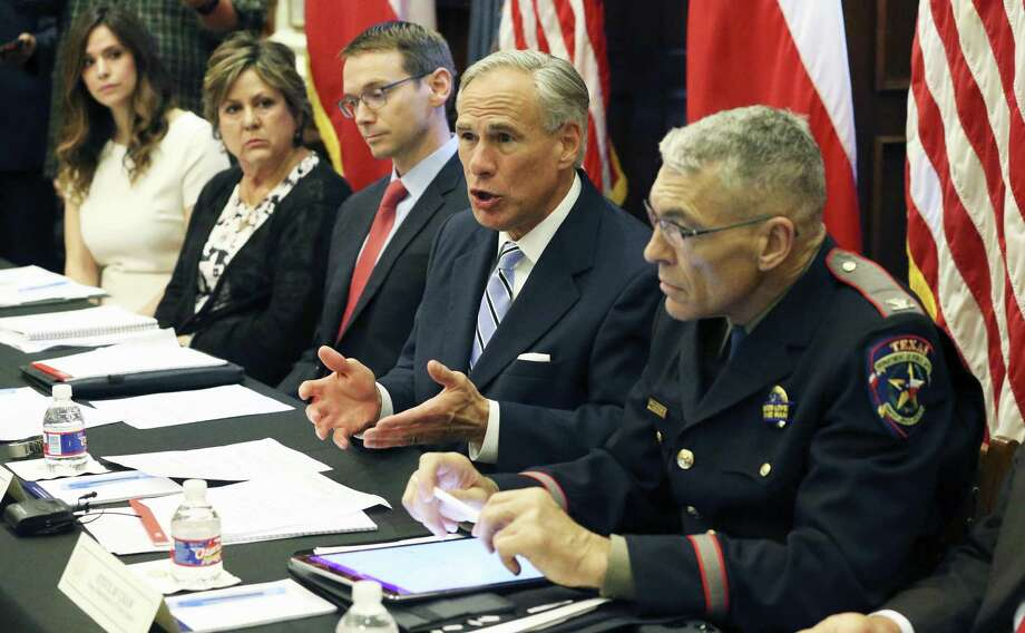 Gov. Greg Abbott leads a roundtable discussion in his offices on guns in the wake of the Santa Fe shootings on May 22. The governor suggested more funding for mental health services in schools. The Legislature should follow through. Photo: Tom Reel /San Antonio Express-News / 2017 SAN ANTONIO EXPRESS-NEWS