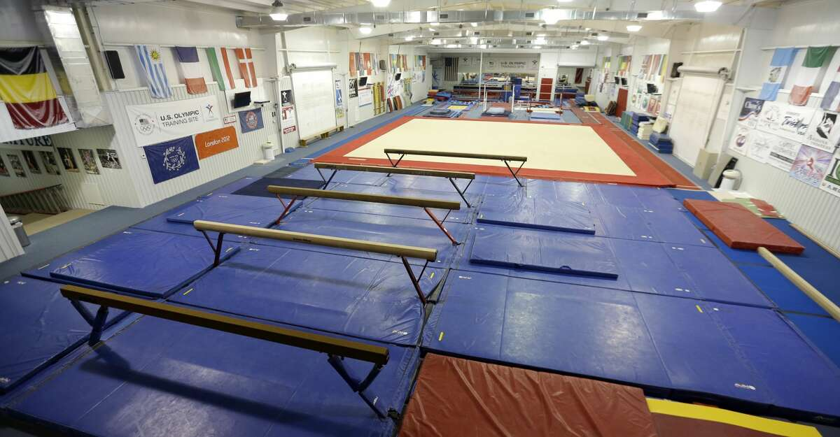 This Sept, 12, 2015 photo shows a training gym at the Karolyi Ranch near New Waverly, Texas. Texas Gov. Greg Abbott on Tuesday, Jan. 30, 2018, has ordered a criminal investigation into claims that former doctor Larry Nassar abused some of his victims at the Texas ranch that was the training ground for U.S. women's gymnastics .(AP Photo/David J. Phillip, File)