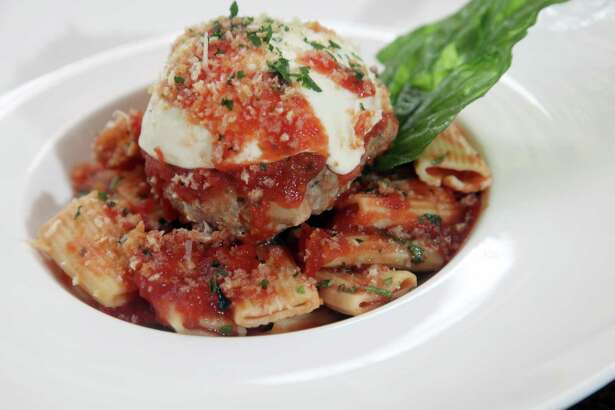 A giant meatball served on a bed of pasta was featured on the menu at Zocca Cuisine D'Italia on in 2012.