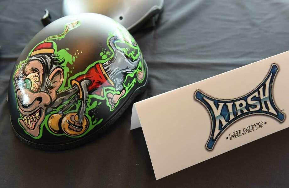 A Kirsh helmet is seen at the Annual Technology Awards at the Rivers Casino Resort on Thursday, June 28, 2018 in Schenectady, N.Y. (Lori Van Buren/Times Union) Photo: Lori Van Buren / 20044208A