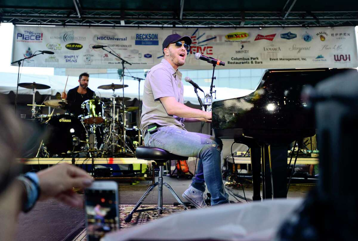Gavin DeGraw performs during the first Alive@Five concert series at Columbus Park on June 28, 2018 in Stamford, Connecticut.