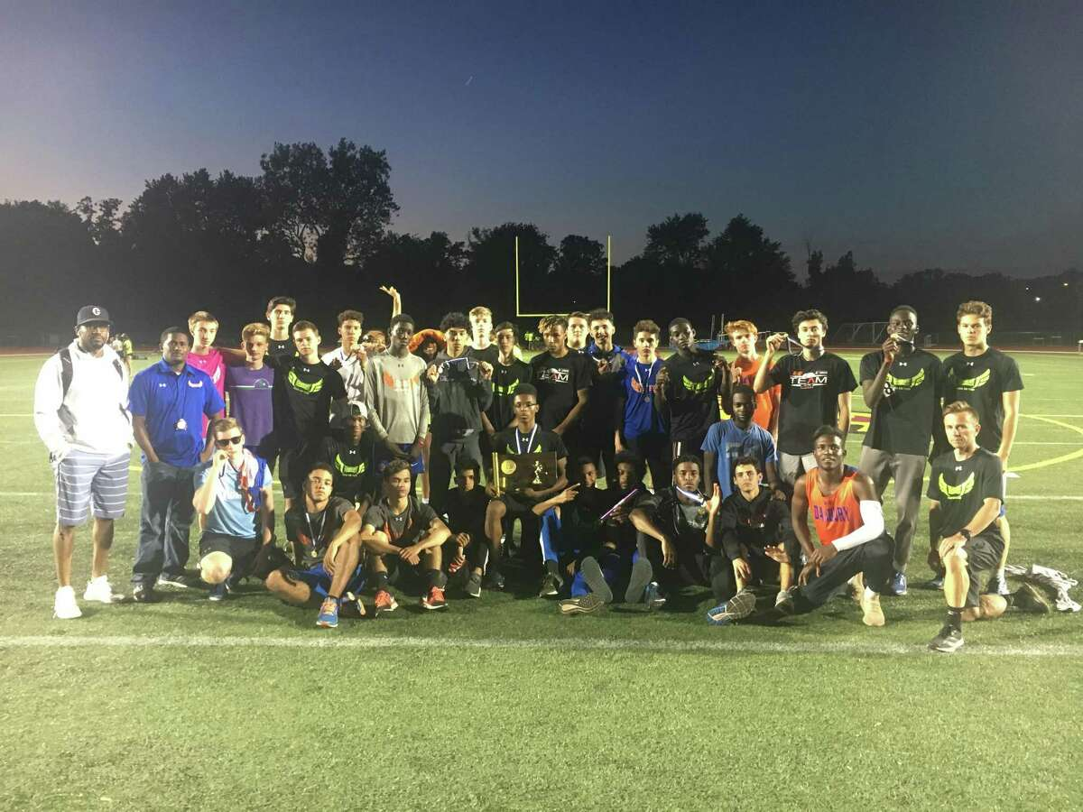 The Danbury outdoor track team won the FCIAC, Class LL and State Open titles this spring.