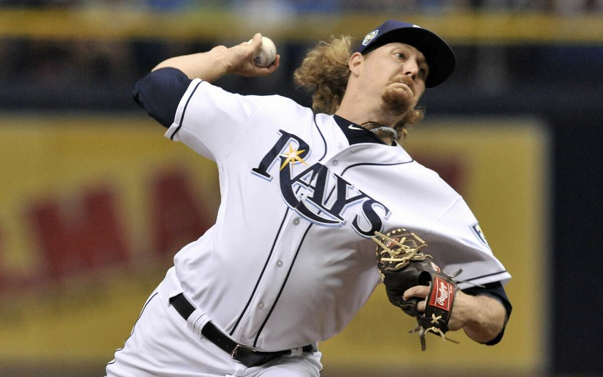 Tampa Bay Rays starter Ryne Stanek pitches against the Houston Astros during the first inning of a baseball game Thursday, June 28, 2018, in St. Petersburg, Fla. (AP Photo/Steve Nesius)
