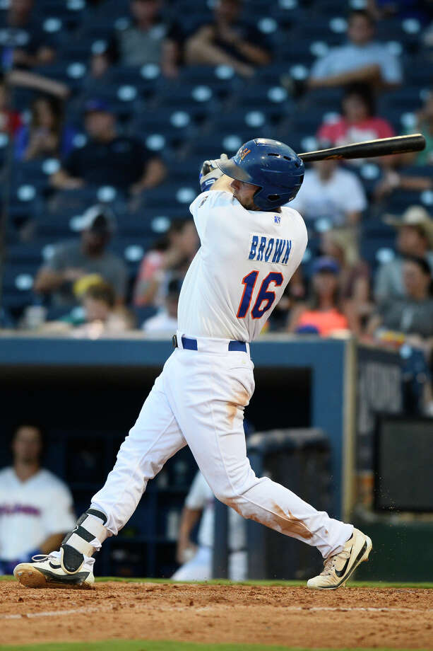 RockHounds Seth Brown hits against Tulsa June 28, 2018, at Security Bank Ballpark. James Durbin/Reporter-Telegram Photo: James Durbin / ? 2018 Midland Reporter-Telegram. All Rights Reserved.