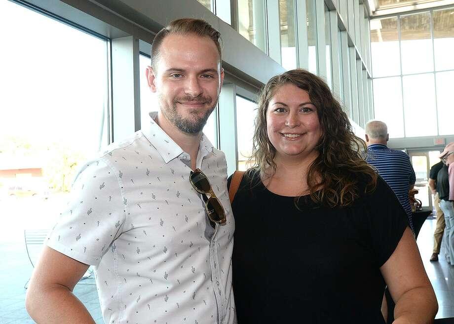 Caleb Fontenot and Jenn Ravey were at Jazz at the Lake at the Event Centre.  Thursday, June 28, 2018  Kim Brent/The Enterprise Photo: Kim Brent / The Enterprise / BEN