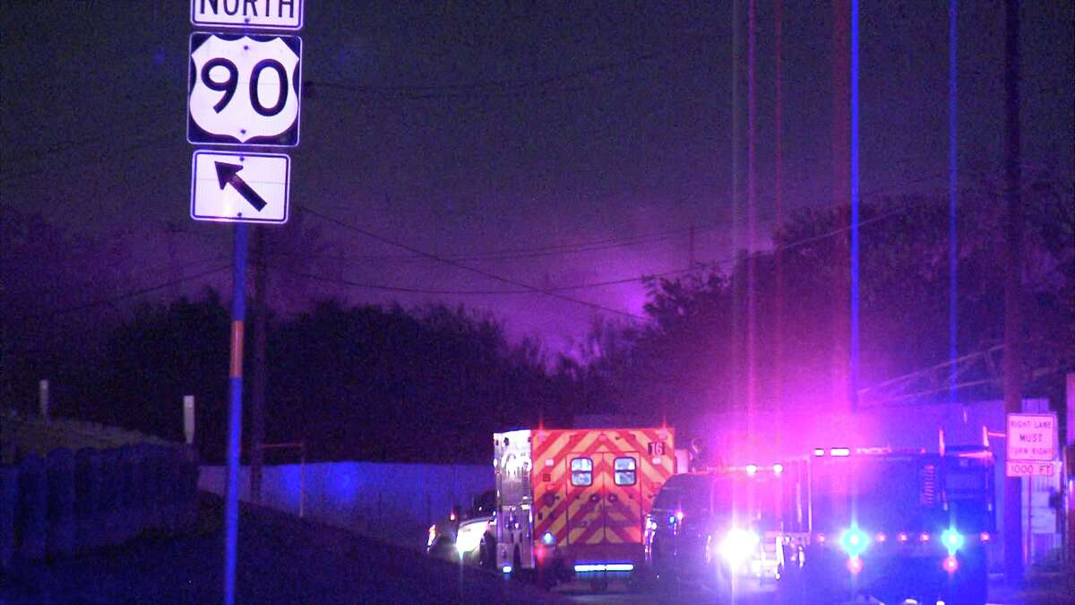 The fire ignited around 1:30 a.m. at the Monterrey Iron & Metal scrap yard in the 2300 block of Frio City Road, according to a police officer at the scene.