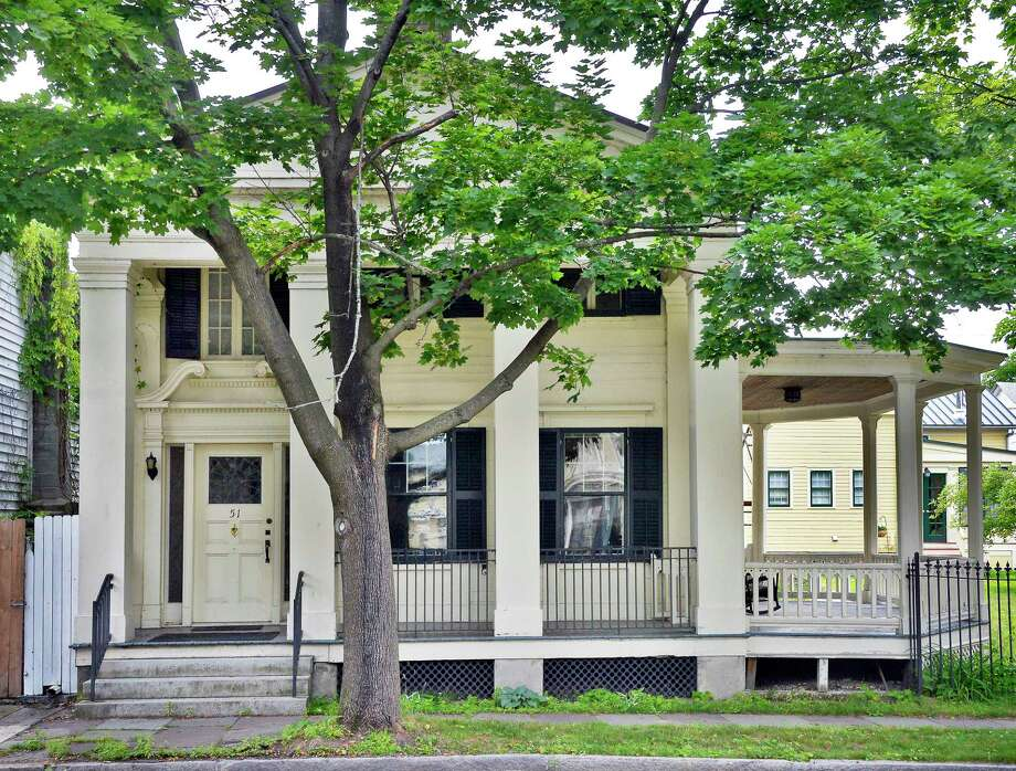 The historic Greek Revival house of Ben Kroup and Lucy Breyer that the couple brought back from ruin nearly 40 years ago Wednesday June 27, 2018 in Waterford, NY.  (John Carl D'Annibale/Times Union) Photo: John Carl D'Annibale / 20044195A