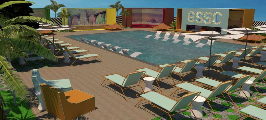 El Segundo Swim Club is a private swim club with full bar and cabanas that will open July 2018 at 5180 Avenue L in Houston's Second Ward. Photo: Gin Design Group