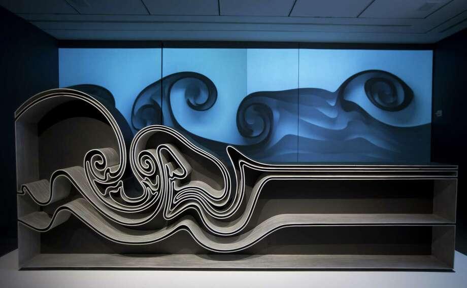 "Joris Laarman's ""Vortex Bookcase"" at the Museum of Fine Arts, Houston. Photo: Annie Mulligan, Freelance / Annie Mulligan / @ 2018 Annie Mulligan"