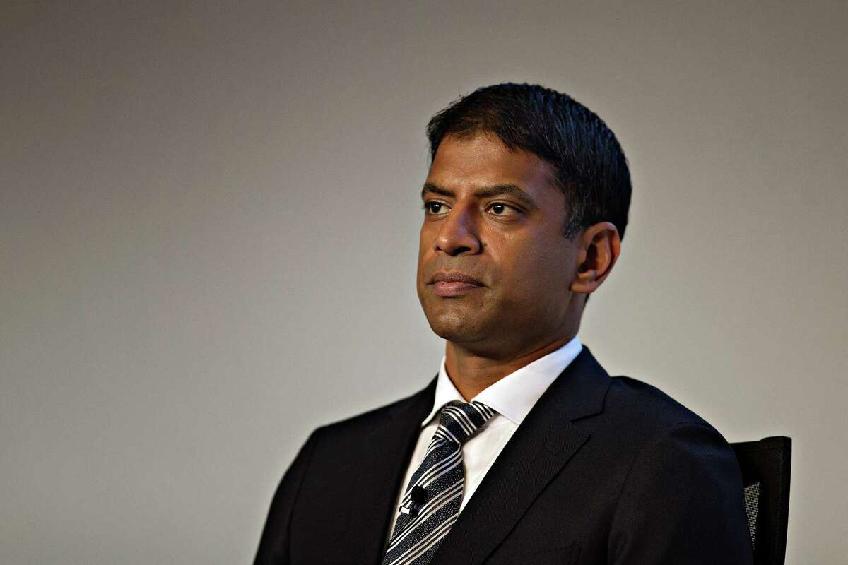Vasant Narasimhan, chief medical officer of Novartis, during a news conference in Basel, Switzerland, on Jan. 25, 2017.