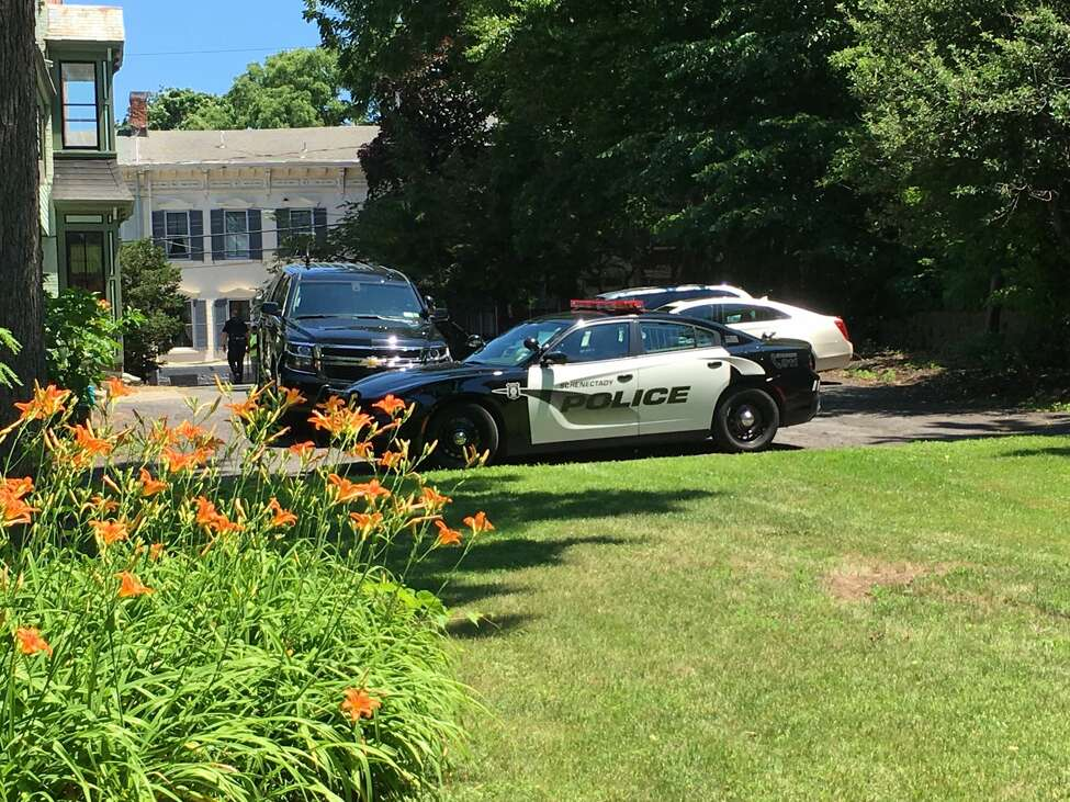Schenectady police were investigating the discovery Friday of a body along Cucumber Alley.