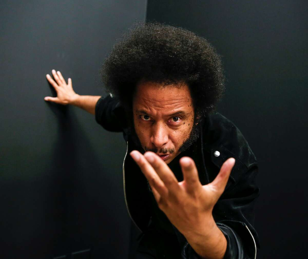 """Boots Riley, director of the film, """"Sorry to Bother You,"""" is seen on Tuesday, June 26, 2018 in San Francisco, Calif."""