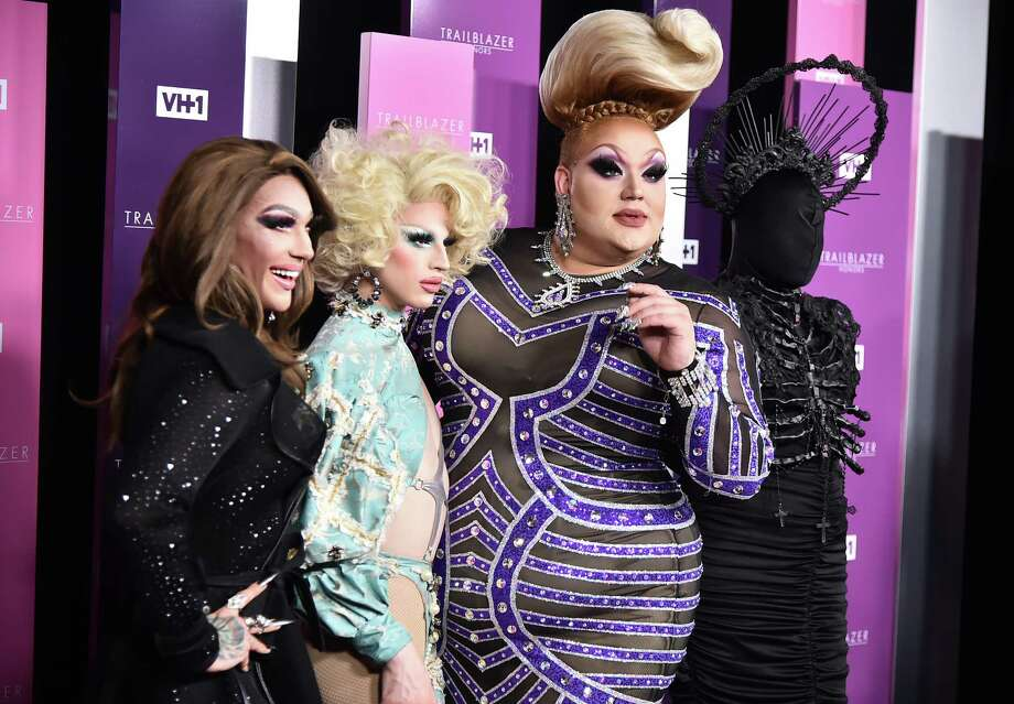 NEW YORK, NY - JUNE 21:  Presenters Kameron Michaels, Aquaria, Eureka O'Hara, Asia O'Hara  attend VH1 Trailblazer Honors 2018 at The Cathedral of St. John the Divine on June 21, 2018 in New York City. Photo: Theo Wargo, Getty Images For VH1 Trailblazer Honors / 2018 Getty Images