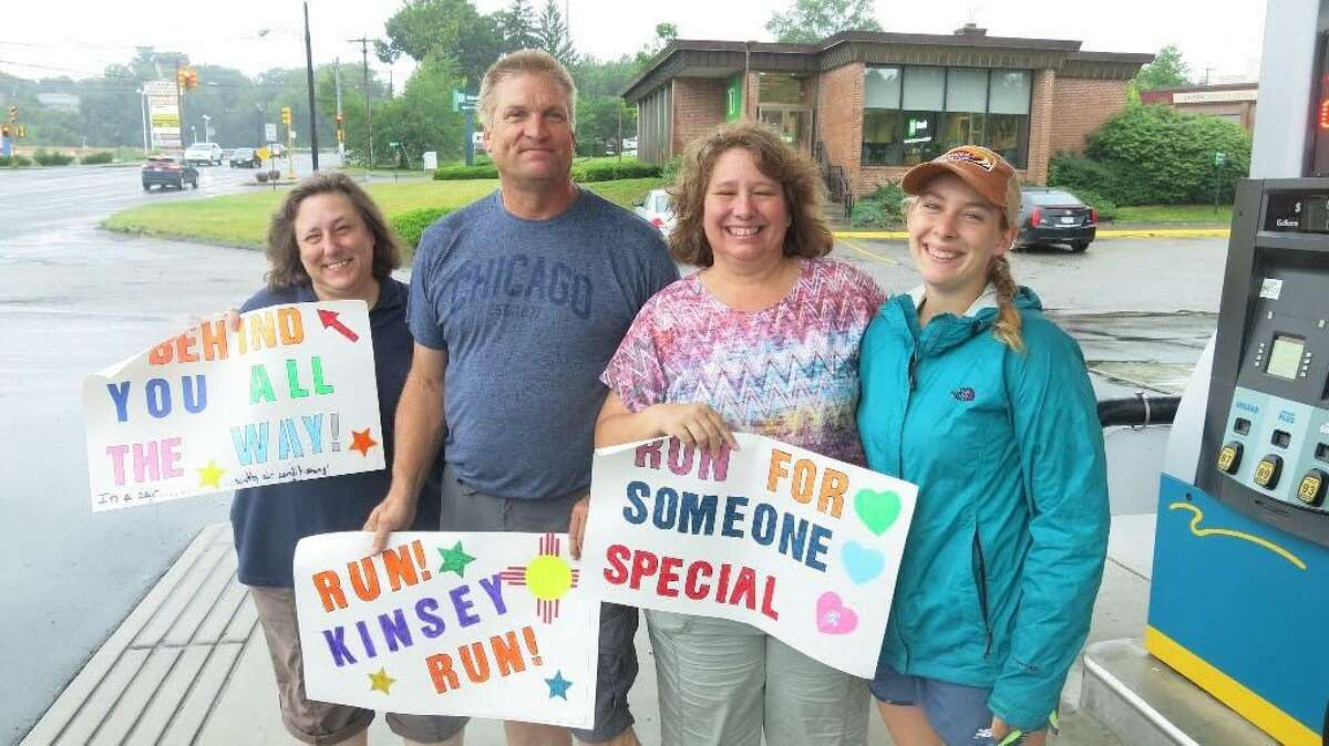 The Eastern Trek for Cancer passed through New Milford Friday as part of a run to raise money to provide direct cancer care to patients New England.