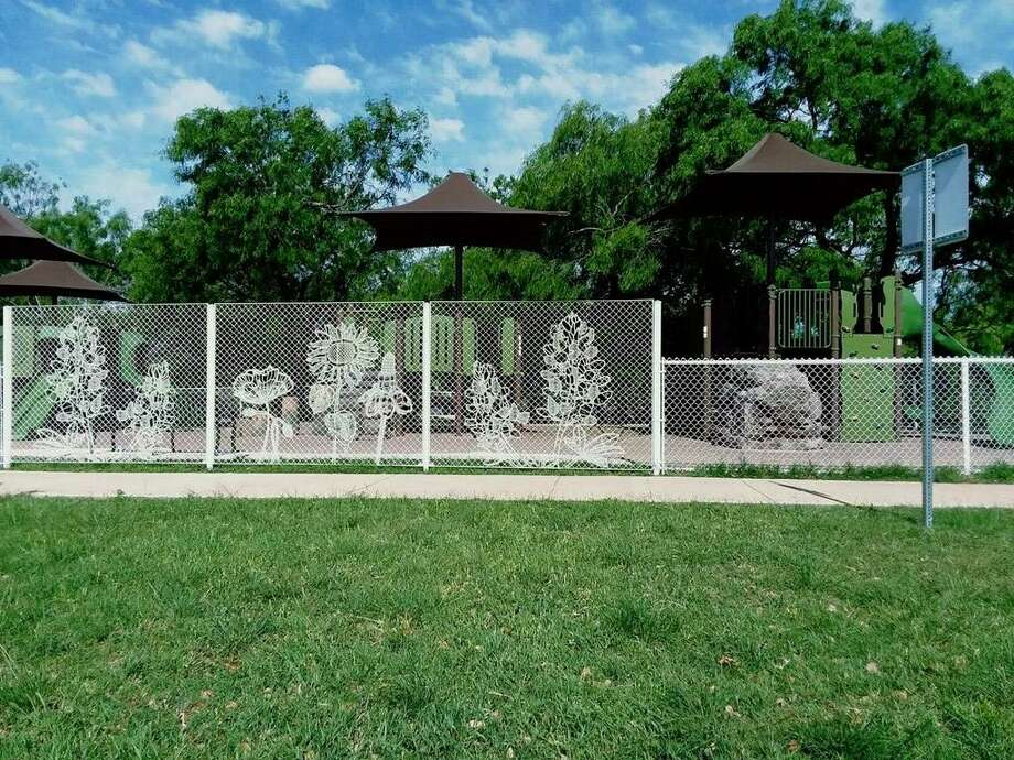 Pictured is the lace fence that Pecos Fence Co. Inc. installed at Lady Bird Johnson Park in San Antonio. Photo: Courtesy Pecos Fence Co. Inc.