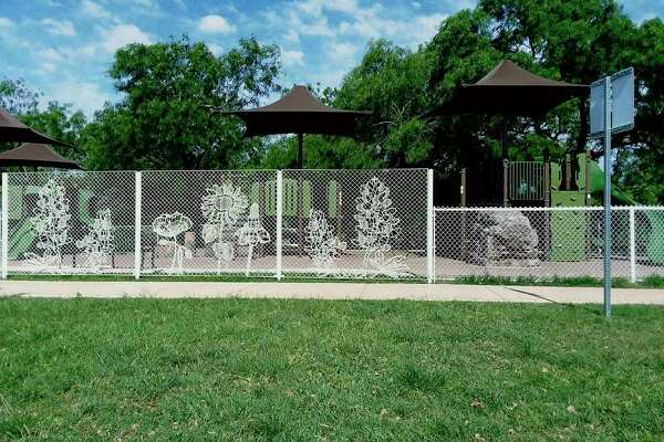 Pictured is the lace fence that Pecos Fence Co. Inc. installed at Lady Bird Johnson Park in San Antonio.