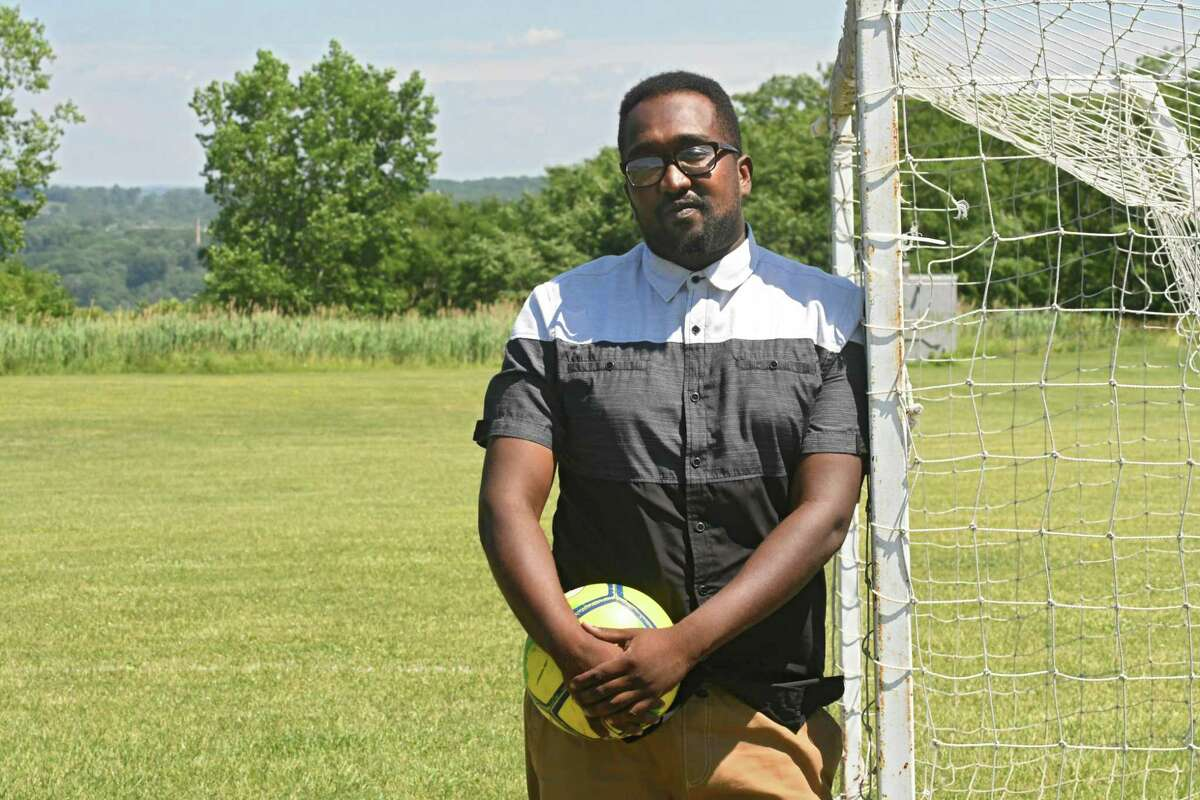 Soccer coach Amjad Abdalla does more than coach soccer - he's the refugee kids'