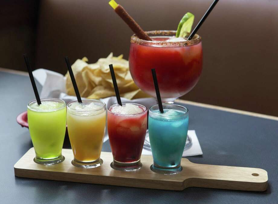 Margaritas made by Matamoros Restaurant Y Cantina come in a variety of flavors, including mango and strawberry. The restaurant won best margarita in the 2018 Express-News Readers' Choice awards. Photo: William Luther /San Antonio Express-News / © 2018 San Antonio Express-News