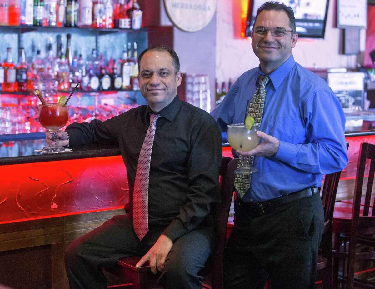 Matamoros Restaurant Y Cantina owners John Jahansouzi and Fara Jahansouzi stand at the bar in their Northwest San Antonio restaurant. The restaurant won best margarita in the 2018 Express-News Readers Choice awards.