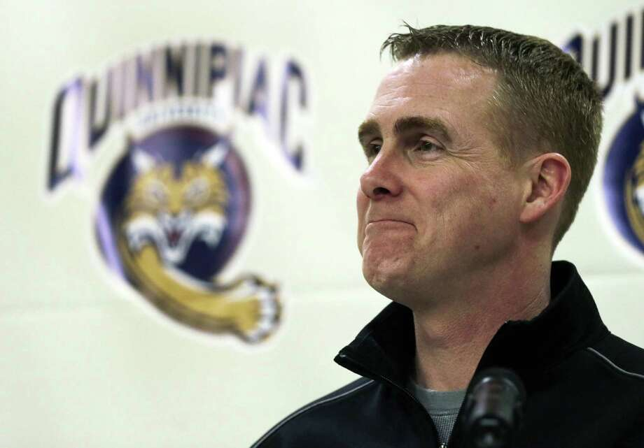 Quinnipiac men's hockey coach Rand Pecknold has agreed to a five-year contract extension to remain with the school. Photo: Charles Krupa / Associated Press / AP