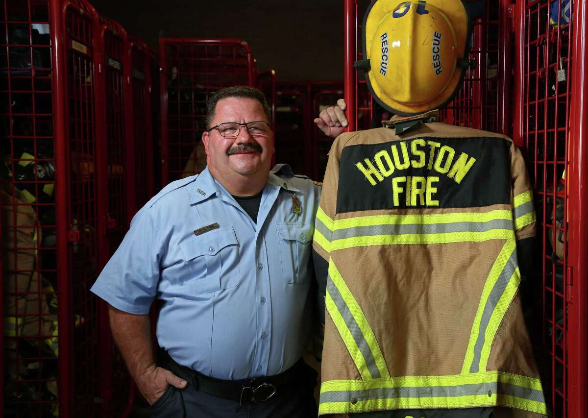 Houston firefighter Richard Saul worked in the fire department's special ops rescue team getting people out of their homes and high water during Hurricane Harvey.