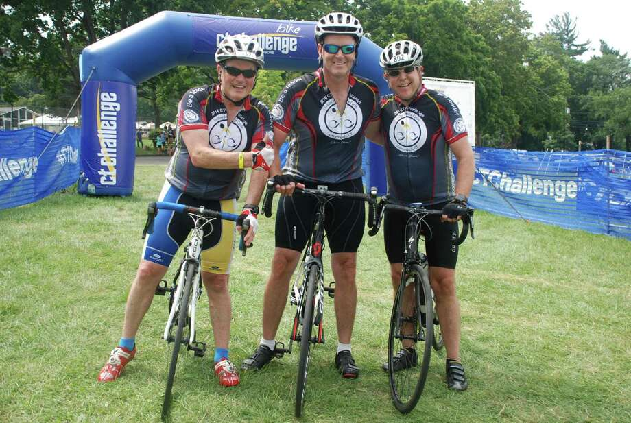 Greenwich cyclists ride for charity Photo: Contributed