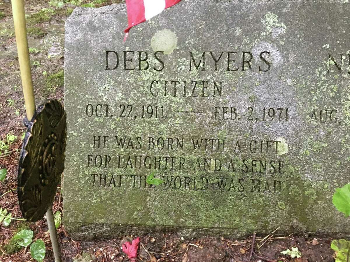 The Bethel grave of Debs Myers, a long-time political operative.