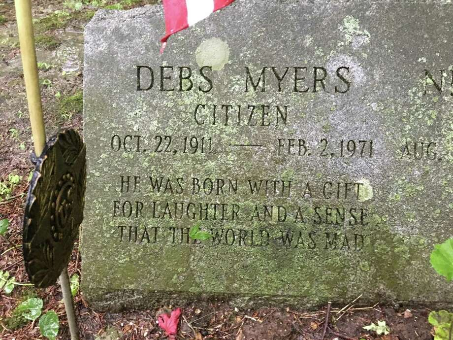 The Bethel grave of Debs Myers, a long-time political operative. Photo: Ken Dixon / Hearst Connecticut Media / Connecticut Post