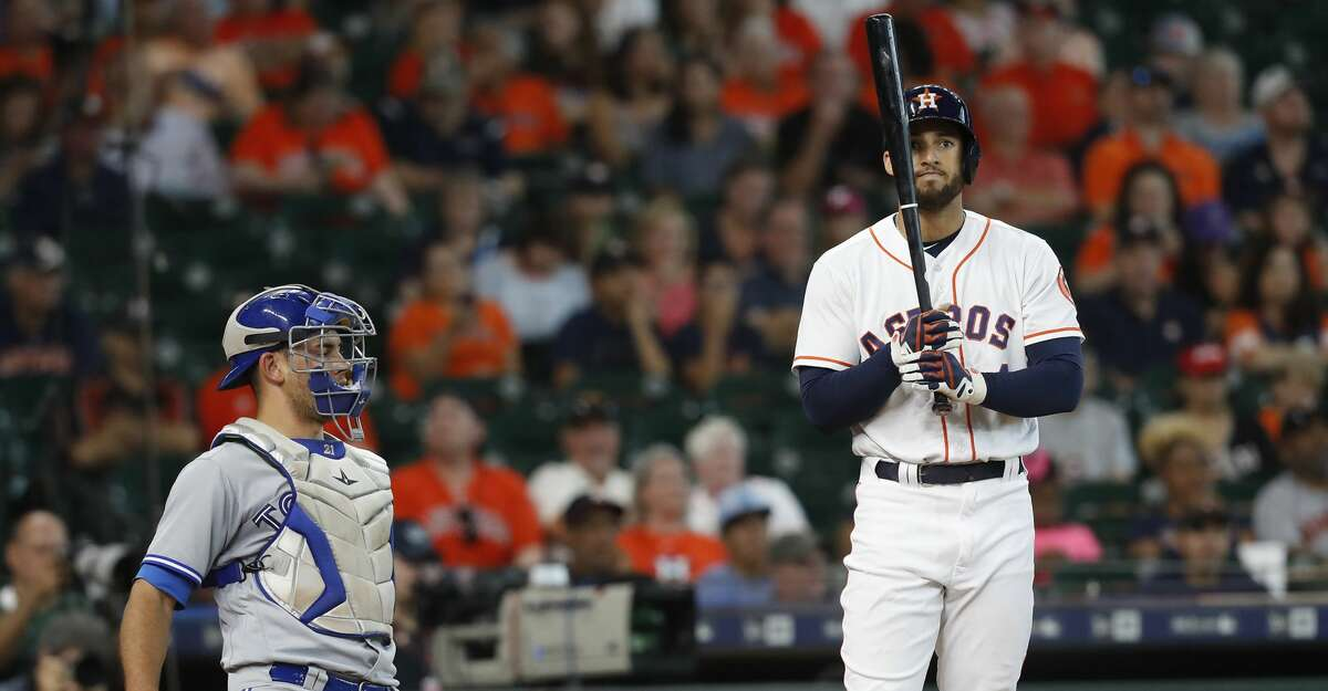 PHOTOS: Astros game-by-game Houston Astros center fielder George Springer (4) reacts to a strike call during game action against the Toronto Blue Jays at Minute Maid Park on Wednesday, June 27, 2018 in Houston. Astros won the game 7-6 with a two-run walk off home run. (Elizabeth Conley/Houston Chronicle) Browse through the photos to see how the Astros have fared through each game this season.