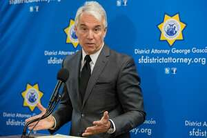 San Francisco District Attorney George Gascon's announces his decision not to charge the officers who shot and killed Luis Gongora Pat and Mario Woods during a press conference at the Hall of Justice Thursday, May 24, 2018 in San Francisco, Calif.