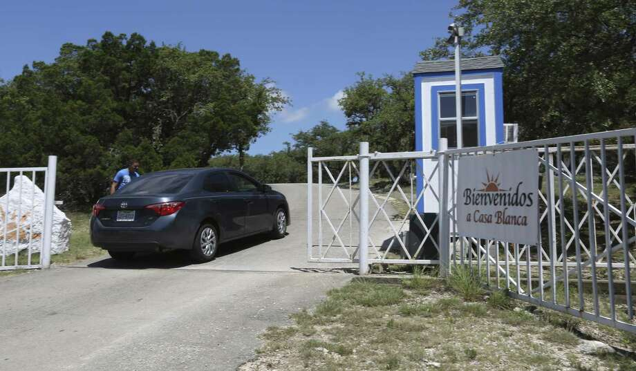 A vehicle enters the Southwest Key Casa Blanca facility Wednesday, June 27, 2018. A state-licensed general residential child care facility, Casa Blanca is permitted to house 45 children aged 5-17 according to the Texas Health and Human Services website. Photo: William Luther /San Antonio Express-News / © 2018 San Antonio Express-News