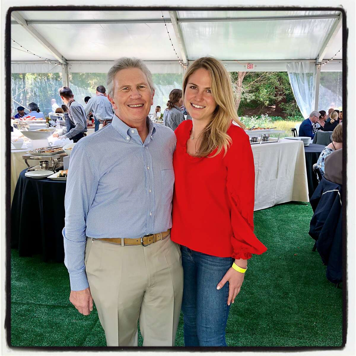 Stern Grove Festival board chairman Doug Goldman and his daughter, Jennifer Goldman, at the Big Picnic. June 24, 2018.