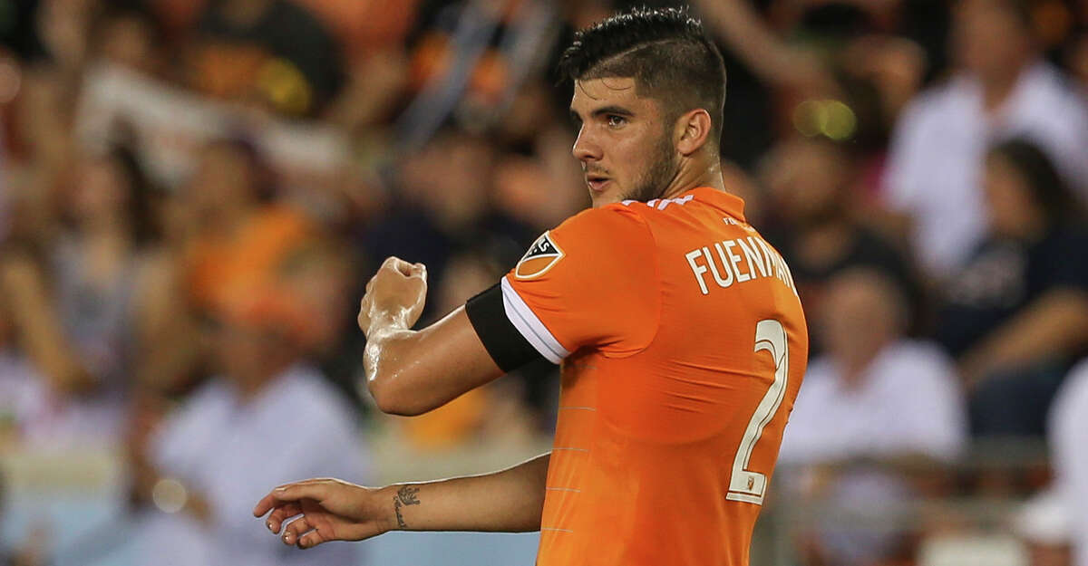 Houston Dynamo defender Alejandro Fuenmayor (2) during the first half of the MLS game against the New York City at BBVA Compass Stadium on Friday, May 25, 2018, in Houston. ( Yi-Chin Lee / Houston Chronicle )