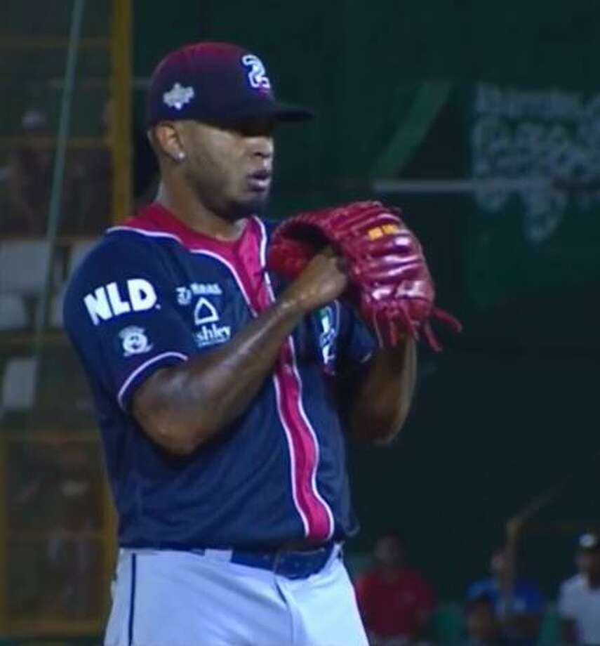Pitcher Nestor Molina threw a perfect third inning representing the Tecolotes as part of the 2018 Season 1 LMB All-Star Game. The North division lost 10-2 to the South at Yucatan. Photo: Screencap Courtesy Of The LMB