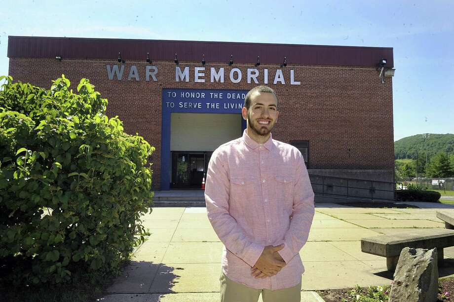 Justin Calitro, 23, is the new executive director of the War Memorial in Danbury. Photo Friday, June 29, 2018. Photo: Carol Kaliff / Hearst Connecticut Media / The News-Times