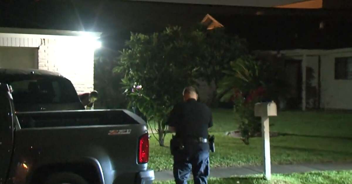 Two men were shot Saturday morning by a man trying to rob them outside of a home in west Houston, police said. Houston Police say a man approached the two victims around __ a.m. at a home in the 4300 block of Wildacres. The men, who did not speak English, did not give the suspect anything, after which he shot four times, hitting both men once.