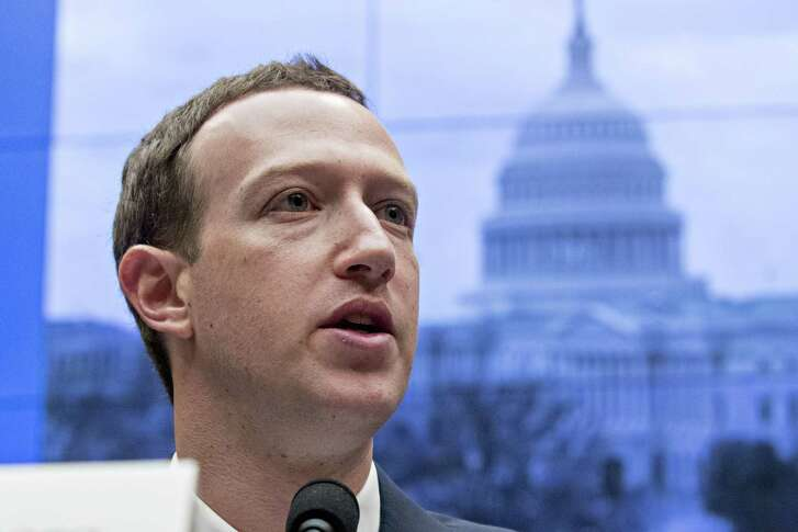 Mark Zuckerberg, chief executive officer and founder of Facebook Inc., speaks during a House Energy and Commerce Committee hearing in Washington on April 11.
