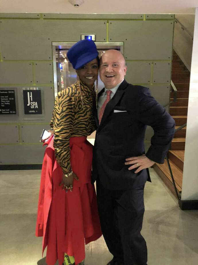 Lauryn Hill and Tony Capasso, food and beverage manager at the JHOUSE in Riverside. Photo: Contributed /