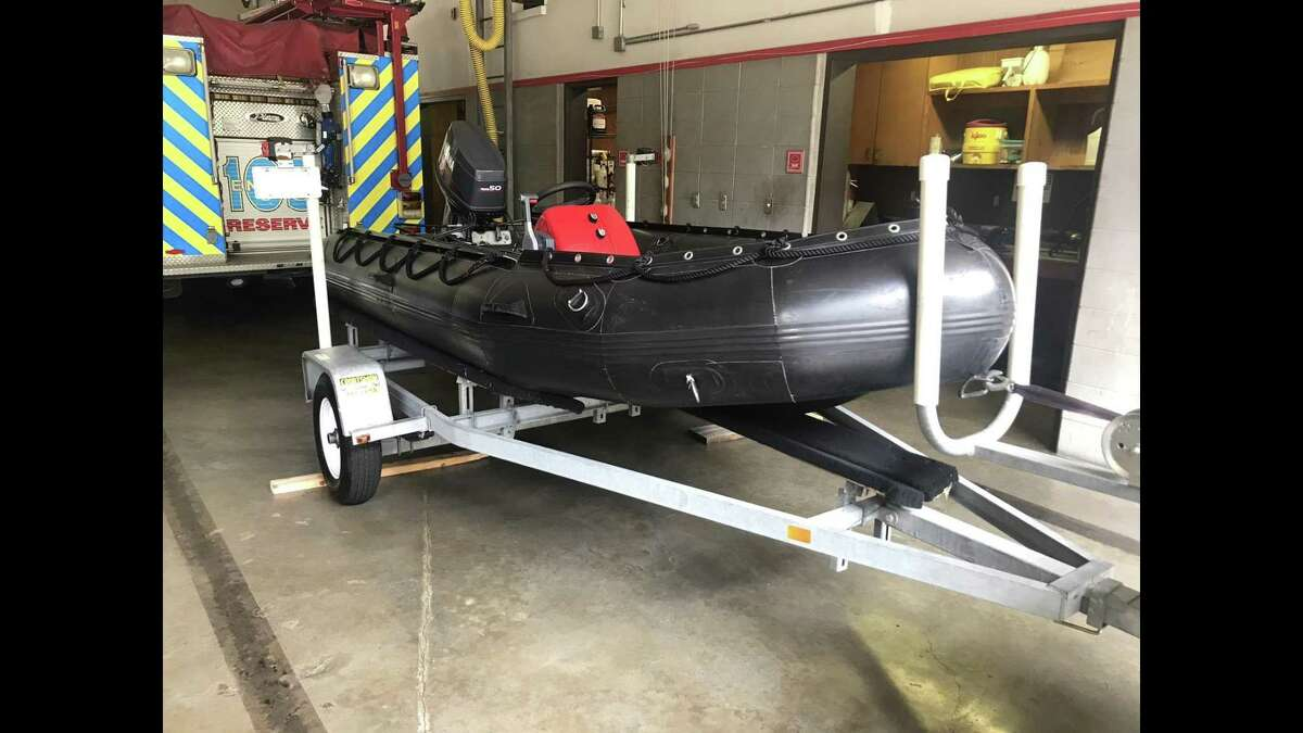 The Woodlands Fire Department has a fleet of rescue boats in the event of a major flooding event, like Hurricane Harvey, requires people to be rescued.