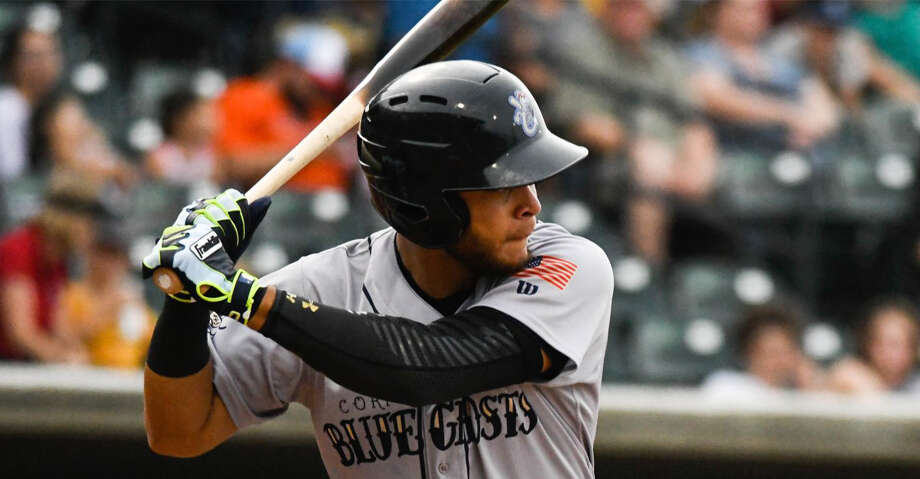Astros prospect Randy Cesar went 0-for-4 in Class AA Corpus Christi's 2-1 loss on Friday night, snapping his record-setting hit streak at 42 games. Photo: Charlie Blalock
