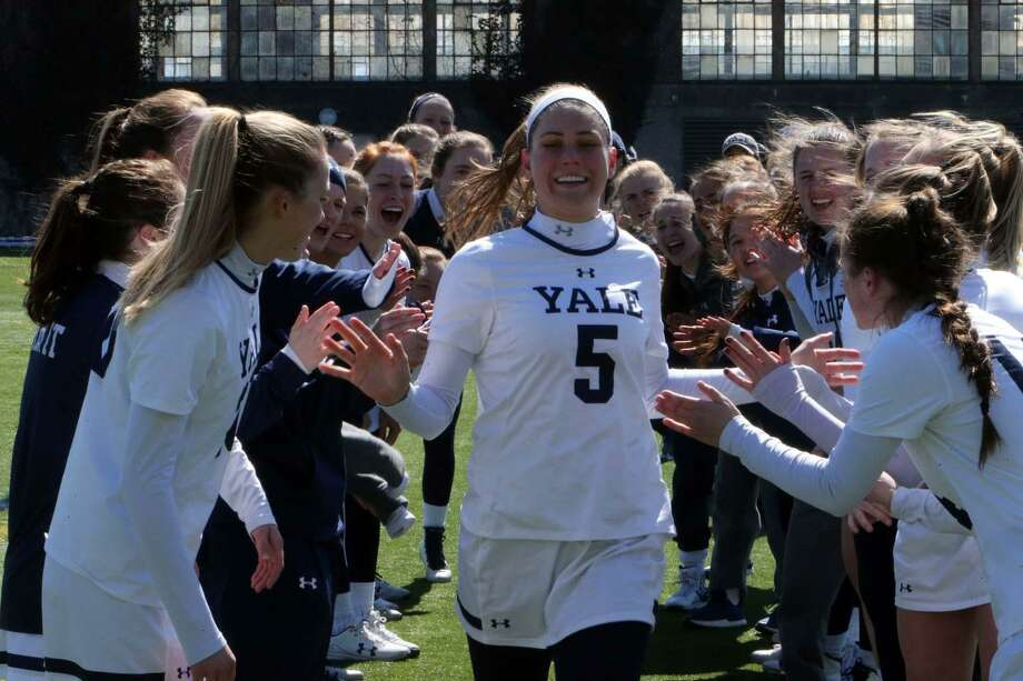 Greenwich Academy graduate, Greenwich resident Izzy Nixon is coming off a junior season for the Yale lacrosse team that saw her break the all-time Ivy League single season record for draw controls. She also earned All-Region honors and was an All-Ivy League selection. Photo: Yale University Athletics / Yale University Athletics / Stamford Advocate Contributed