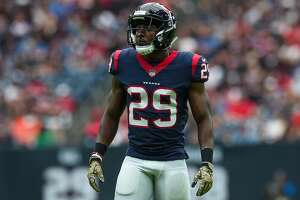 HOUSTON, TX - NOVEMBER 05: Houston Texans free safety Andre Hal (29) gets ready for a play during the football game between the Indianapolis Colts and the Houston Texans on November 5, 2017 at NRG Stadium in Houston, Texas. (Photo by Daniel Dunn/Icon Sportswire via Getty Images)