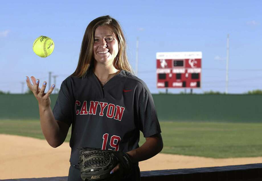 New Braunfels Canyon pitcher Brooke Vestal, the Girls Athlete of the Year, led the Cougarettes to the Class 6A state title game. She will play for Oklahoma. Photo: Kin Man Hui / San Antonio Express-News / ©2018 San Antonio Express-News