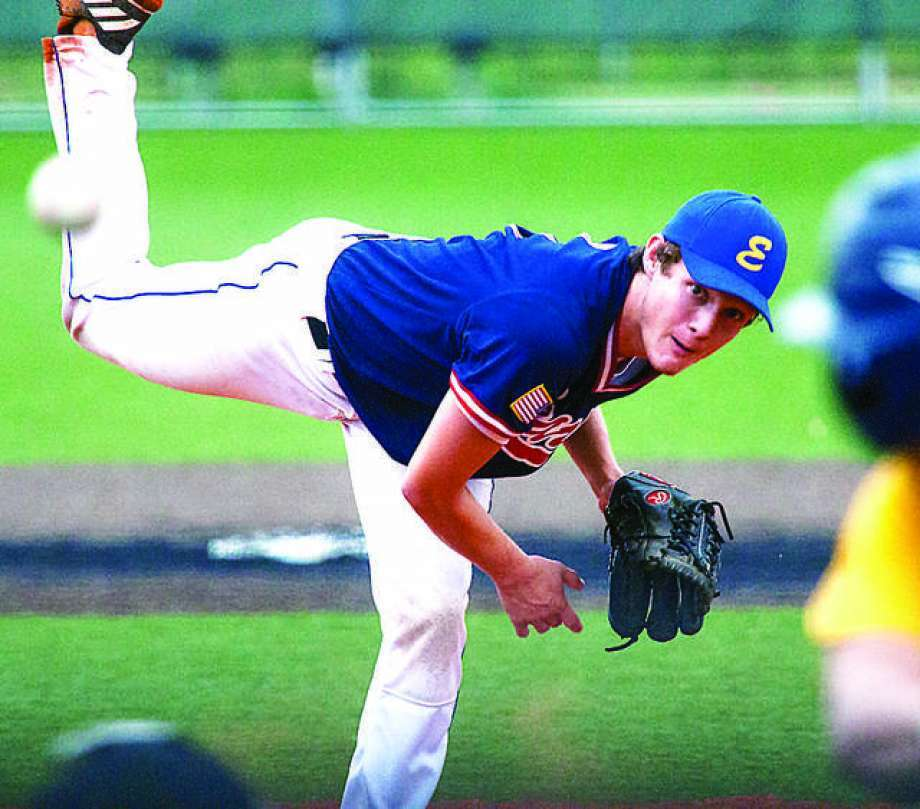Post 199 pitcher Zach Seavers scattered three hits, struck out five and walked two in a 2-0 victory over Quincy Saturday in a Firecracker Classic game at Jerseyville.