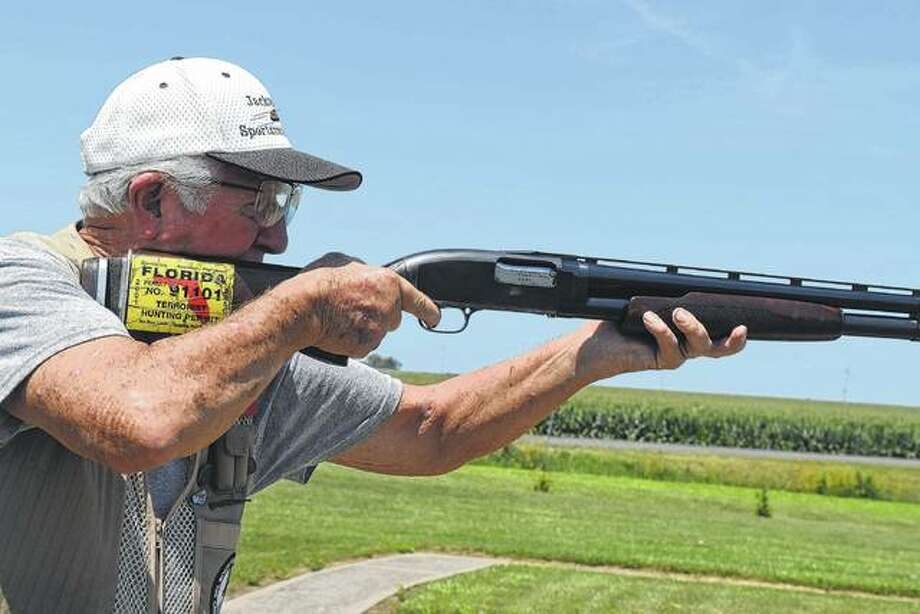 George Murphy practices his trapshooting Friday at the Jacksonville Sportsman's Club. Photo:       Samantha McDaniel-Ogletree | Journal-Courier