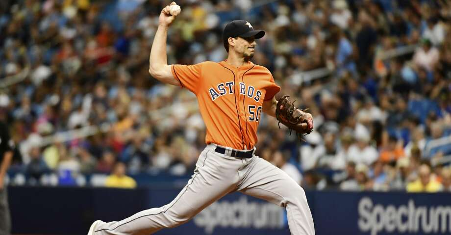 ST PETERSBURG, FL - JULY 1: Charlie Morton #50 of the Houston Astros throws a pitch in the second inning against the Tampa Bay Rays on July 1, 2018 at  Tropicana Field in St Petersburg, Florida. (Photo by Julio Aguilar/Getty Images) Photo: Julio Aguilar/Getty Images
